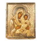 Икона Божией Матери, серебряный оклад, Российская Империя