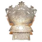 Солонка в виде стульчика, серебро 84 пробы, Российская Империя
