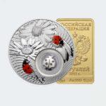 Серебряные и золотые монеты